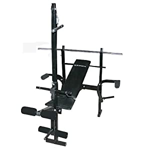 Vlk Weight Bench Home Gym Weights With Lat Pulldown Bar