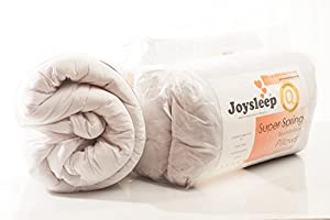 LOVE2SLEEP AMAZING VALUE BUNDLE - 15.0 TOG DUVET/ QUILT WITH 2 ULTRA BOUNCE PILLOWS NON ALLERGENIC SOFT TOUCH POLY COTTON - SINGLE