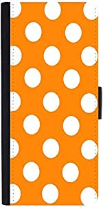 Snoogg Yellow Polka Dot Designer Protective Flip Case Cover For Sony Xperia Z1