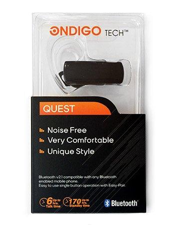 Ondigo Tech - Bluetooth Headset | Micro Usb Charging - Up To 6 Hours Talk Time [Retail Packaging] Black