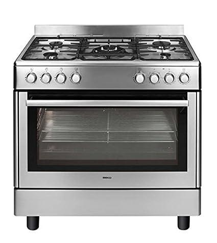 Beko GM15121DX cuisinière - fours et cuisinières (Autonome, Acier inoxydable, Electrique, Gaz, Convection, conventionnel, décongeler, Grill, 0 - 250 °C)