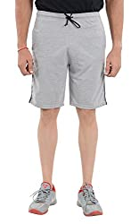 LLUMINATI Men's Cotton Shorts (Bermuda Grey, Grey, XL)