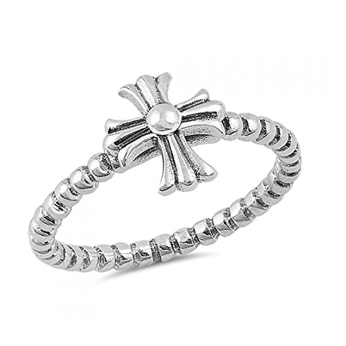 Anello Sterling Silver Iron Cross