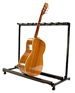 new guitar stand 7 position folding padded display musical instruments. Black Bedroom Furniture Sets. Home Design Ideas