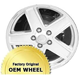 JEEP COMPASS,PATRIOT 17X6.5 5 SPOKE Factory Oem Wheel Rim- POLISHED FACE SILVER – Remanufactured