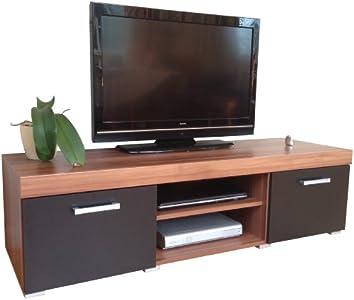 Cheap  & Walnut Sydney Large 2 Door TV Cabinet 140cm Unit