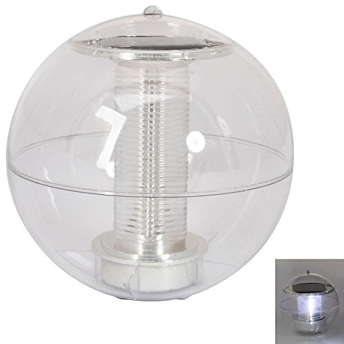 XIQI Christmas ew Solar Power White LED Floating Light Waterproof Garden Pond Pool Lamp