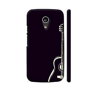 Colorpur Guitar On Black Designer Mobile Phone Case Back Cover For Motorola Moto G2 | Artist: Miraculous