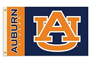 NCAA Auburn Tigers 3-by-5 Foot Flag With Grommets by BSI