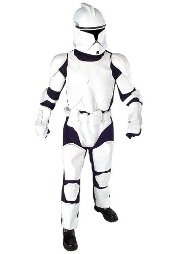 Deluxe Clone Trooper Adult Costume - Adult Costumes