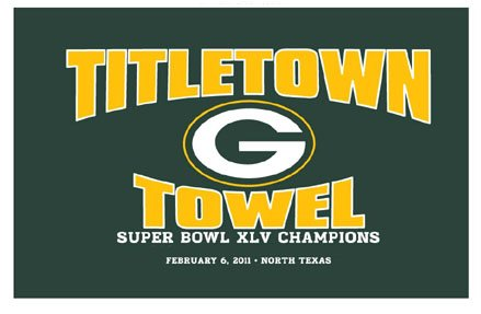 Best Deal Green Bay Packers Super Bowl XLV 45 Champs Green Titletown Towel