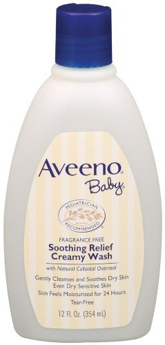 Aveeno Baby Soothing Relief Cream Wash, 12-Fluid Ounces Bottles (Pack Of 3) Size: Pack Of 3 Newborn, Kid, Child, Childern, Infant, Baby front-528027