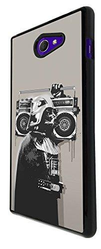 351 - Banksy Grafitti Darth Vader Design für Alle Sony Xperia Z / Sony Xperia Z1 / Sony Xperia Z2 / Sony Xperia Z3 / Sony Xperia Z4 / Sony Xperia Z1 Compact / Sony Xperia Z2 Compact / Sony Xperia Z3 Compact / Sony Xperia Z4 Compact / Sony Xperia M2 / Sony Xperia M4 Fashion Trend Hülle Schutzhülle Case Cover Metall und Kunststoff - Bitte wählen Sie Ihr Telefonmodell und Farbe aus der Dropbox