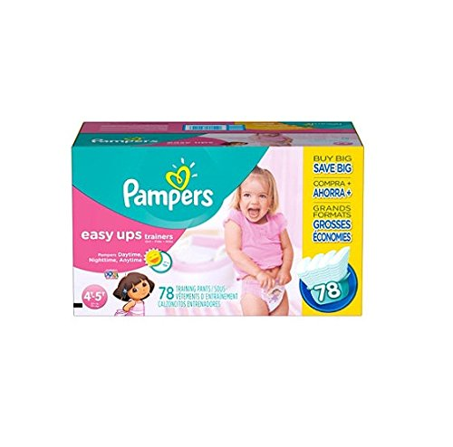 Pampers Easy Ups, Girls, Size 6, 4T-5T (37+ Lbs.), 78 Ct. front-46974