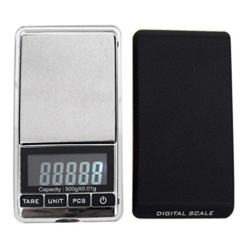 Weiheng WH-DS16 500g/0.01g Mini Balance de bijoux - Balance de haute précision Numérique Portable - Idéale pour peser de l'or, l'argent,bijoux, etc