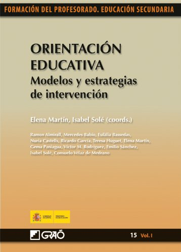 Orientación educativa. Modelos y estrategias de intervención