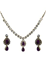Vivanka Jewels Designer Gold Plated Kundan Necklace Set - B00MS4YE6C