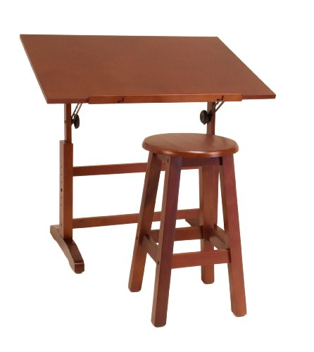 Studio Designs 13257 Creative Table And Stool Set, Walnut front-1029564