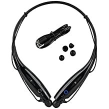 Celkon A119Q Signature HD Compatible Wireless Bluetooth HBS-730 On-ear Sports Headset Headphones BLACK By CASVO