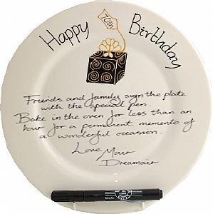 70th Birthday Signing Plate(rd)(Box)