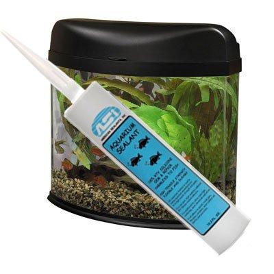 Clear Aquarium Silicone Sealant - 10.2 Fluid oz Cartridge Animals Pet ...