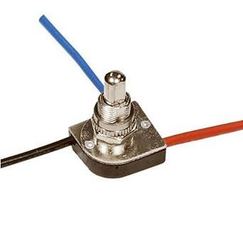 Satco 90-1679 - 3-Way Push Switch - Nickel Finish 3/8 Bushing - Two Circuit