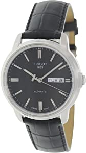 Tissot Men's T065.430.16.051.00 Black Leather Automatic Watch with Black Dial