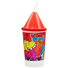 Dixie 10KD271014 4 Piece Little Saurus Rocks Kid's Favorites Collectible 10 oz Cups, Lids, Crayons and Clear Straws Set (Case of 1200)