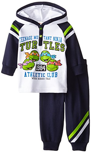 Nickelodeon Baby Baby Boys' Ninja Turtles Set with Hooded Henley Top