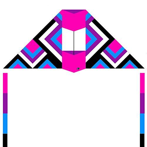 emmakites-24-m-conyne-delta-kite-le-labyrinthe-avec-deux-6-m-ruban-tails-violet-dream-stable-facile-