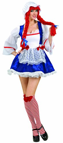 Secret Wishes Rag Doll Costume, Blue, X-Small