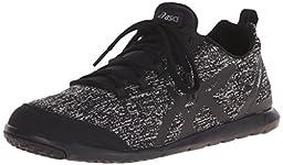 ASICS Women\'s Metrolyte Walking Shoe, Black/Black/Iris, 7.5 M US