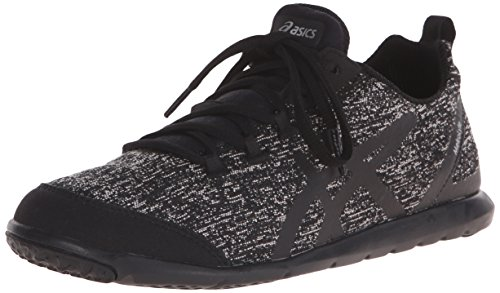 ASICS Women's Metrolyte Walking Shoe, Black/Black/Iris, 8.5 M US