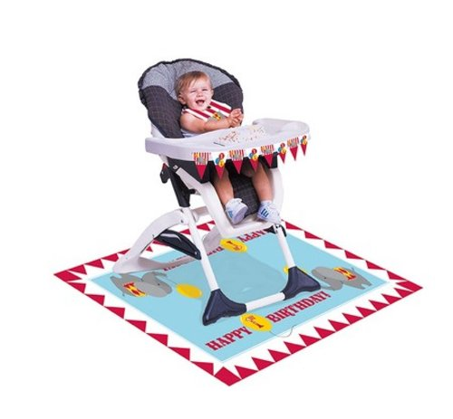 Creative Converting Circus Time High Chair Party Kit, 3-Piece