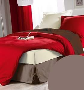 bettlaken 140 x 190 cm gaby taupe k che. Black Bedroom Furniture Sets. Home Design Ideas