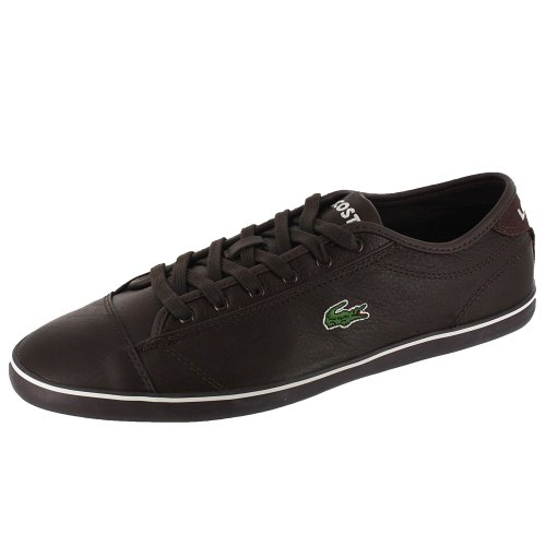 Lacoste Mens Wyken CI SPM Leather Dark Brown/Off White Dark Brown 10