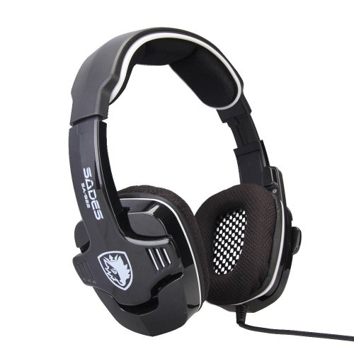 Sades Sa922 Black Multiple Interface Support Universal Versatile Professional Gaming Headset Pc/Ps3/Xbox Triple Headsets (Sa922-Black)