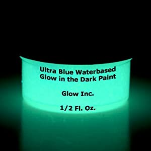 ultra blue glow in the dark paint 1 2 fluid ounce. Black Bedroom Furniture Sets. Home Design Ideas