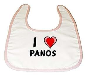 Amazon.com: Baby Bib with I Love Panos (first name/surname/nickname
