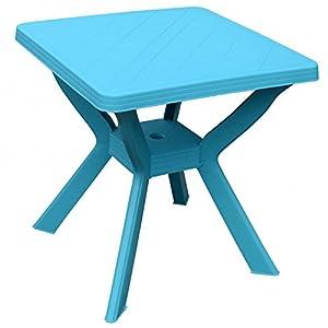 gartentisch reno 70x70x72cm kunststoff blau progarden campingtisch garten. Black Bedroom Furniture Sets. Home Design Ideas
