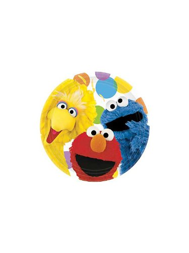 Amscan Sesame Street Lunch Plates, Multicolor