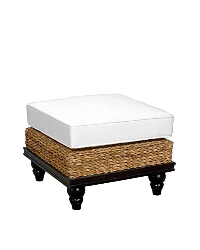 Jeffan Tropical Abaca Small Astor Ottoman, Natural
