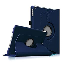 Fintie (Navy) 360 Degrees Rotating Stand Leather Case Cover for Apple iPad mini 7.9 inch Tablet With Auto Wake / Sleep Feature - 9 Colors Options