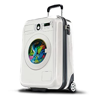 Hard Shell Trolley Case 20 inch Carry-On Size Hand Luggage (Washing Machine)
