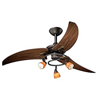 "Vaxcel FN48121OR Picard Ceiling Fan, 48"", Vintage Bronze Finish"