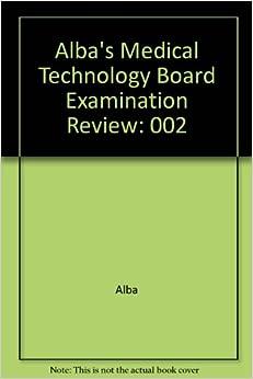 amazoncom albas medical technology board examination review  alba books