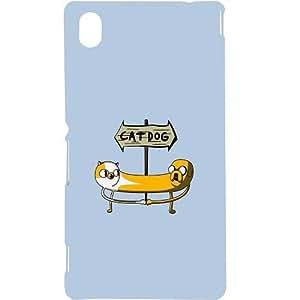Casotec Cat Dog Sign Design Hard Back Case Cover for Sony Xperia M4 Aqua