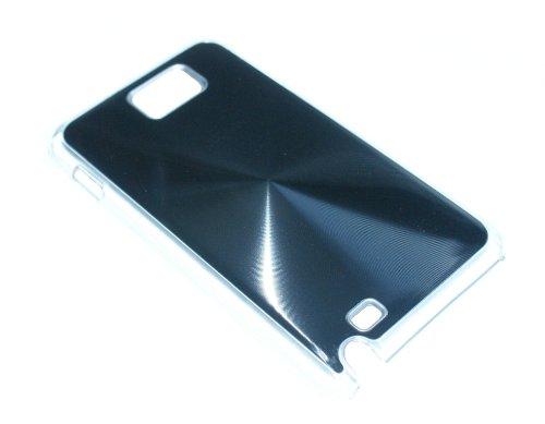 Hard Case Cover Busta Custodia per Samsung Galaxy Note i9220 nero con dietro alluminio di RBrothersTechnologie