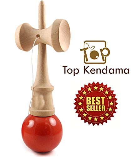 ★ Best Seller ★ TOP Kendama™ ★ Ancient Japanese Wooden Skill Toy ★ Highly Addictive ★ Strengthens Hand-eye ★ Coordination ★ Balance ★ Focus Perseverance Dexterity ★ Suitable for All Ages ★ High Quality Natural Wood with Durable Paint ★ Extra String and Instruction Booklet Included 278