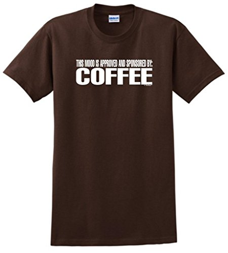 This Mood Is Approved And Sponsored By Coffee T-Shirt Xl Dark Chocolate front-232296